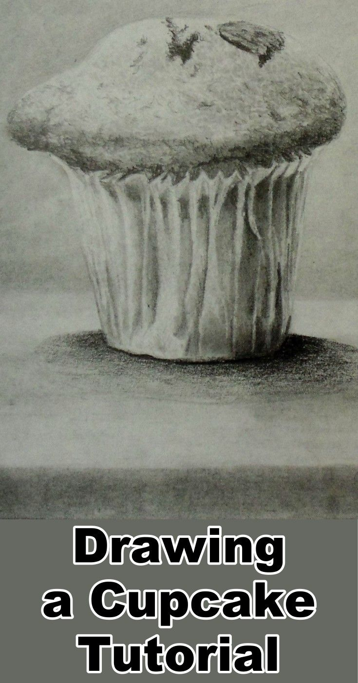 Learn how to draw a cupcake in this free pencil drawing online art class