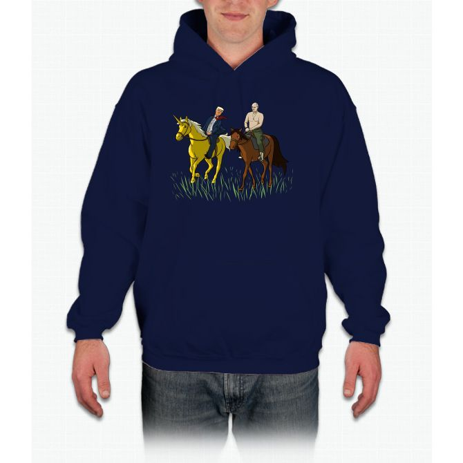 In Russia Horse Rides You! Unicorn Hoodie