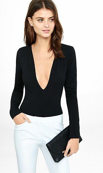 bdc140054e708 express one eleven deep v-neck thong bodysuit | StitchFix | Bodysuit ...