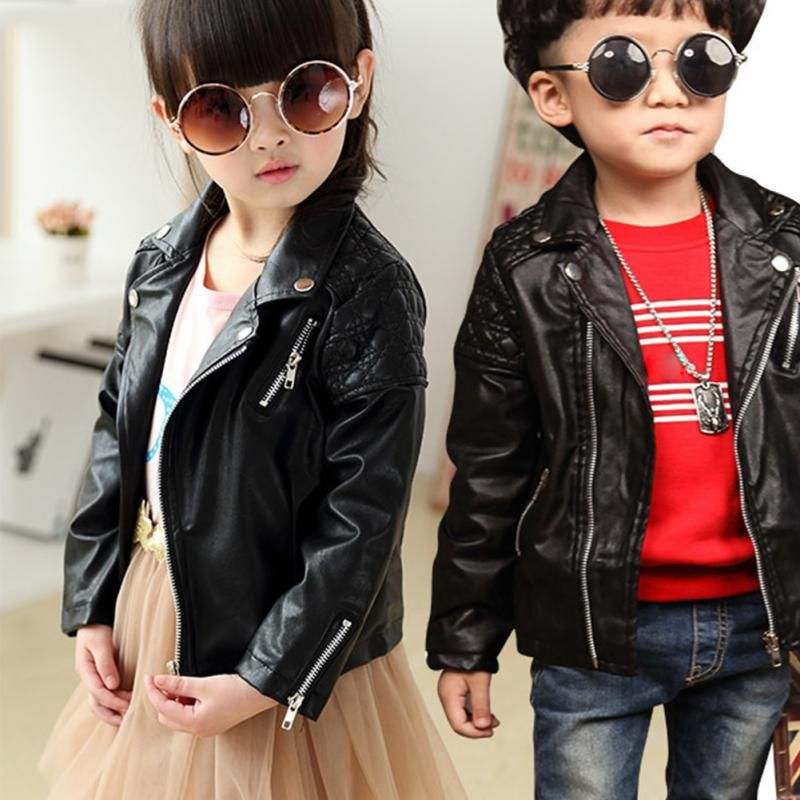 2017 Winter Kids Pu Leather Jackets Boys Girls Clothes Children Coat In Jackets Coats From Mother Leather Jacket Girl Leather Jacket Zipper Baby Girl Jackets