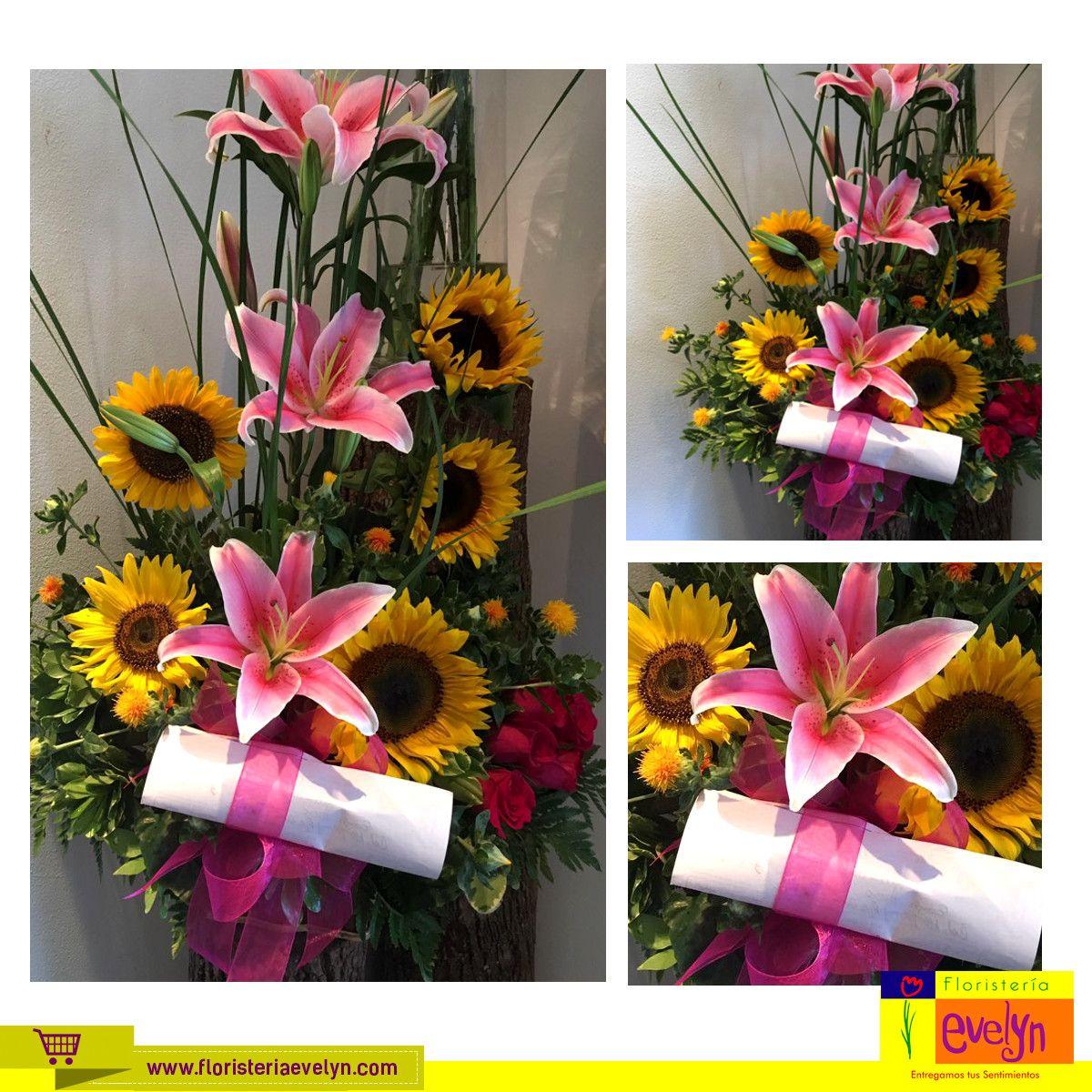 ¿Qué te parece esta bella combinación de #Girasoles #Lirios #Rosas? Llámanos y solicita al tuyo al 2263-2384 o ingresa a nuestra tienda en línea www.floristeriaevelyn.com