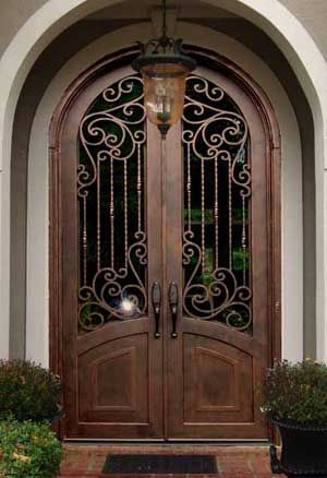 Tuscan Style Front Doors Double Iron Entry Doors For