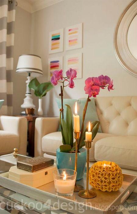 Bandeja como centro de mesa decoraci n pinterest - Bandejas decoracion salon ...