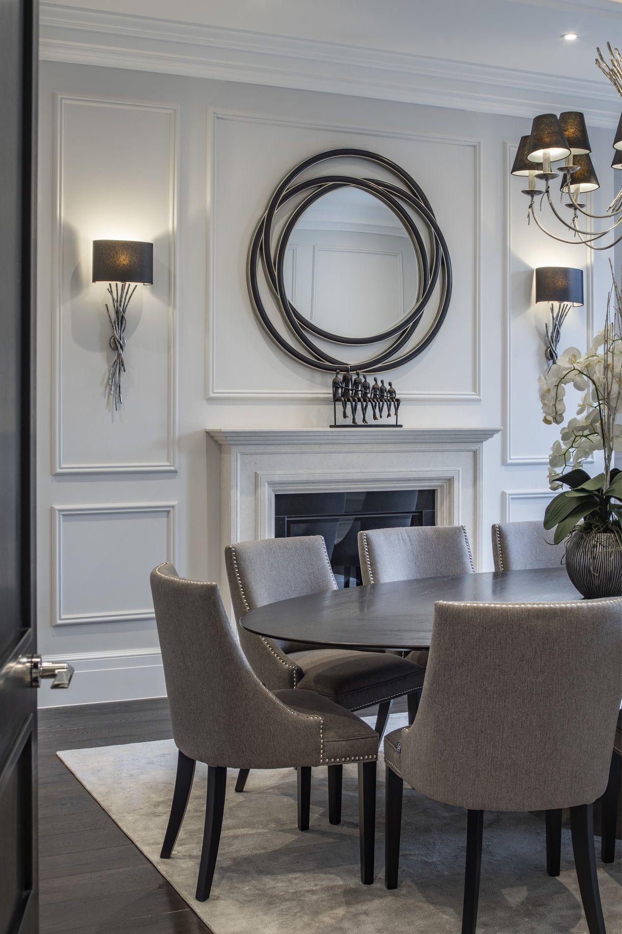 Dining Room Interiors, Wall Lights In Dining Room