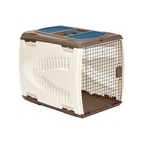 Details about dog crate cage portable pet carrier travel for Portable travel dog crate