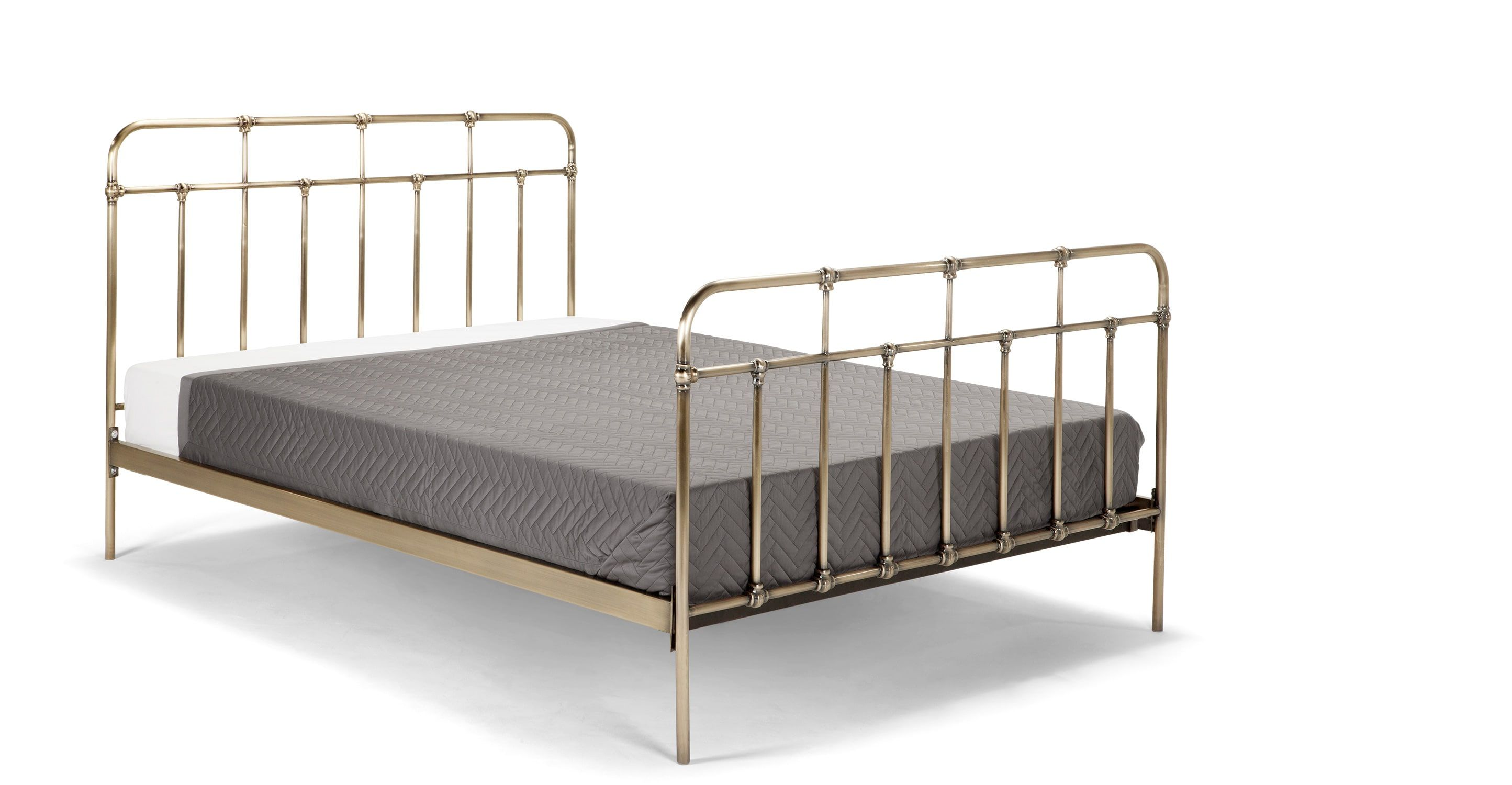 Starke Double Bed, Brass from Made.com. Express delivery. If you\'re ...