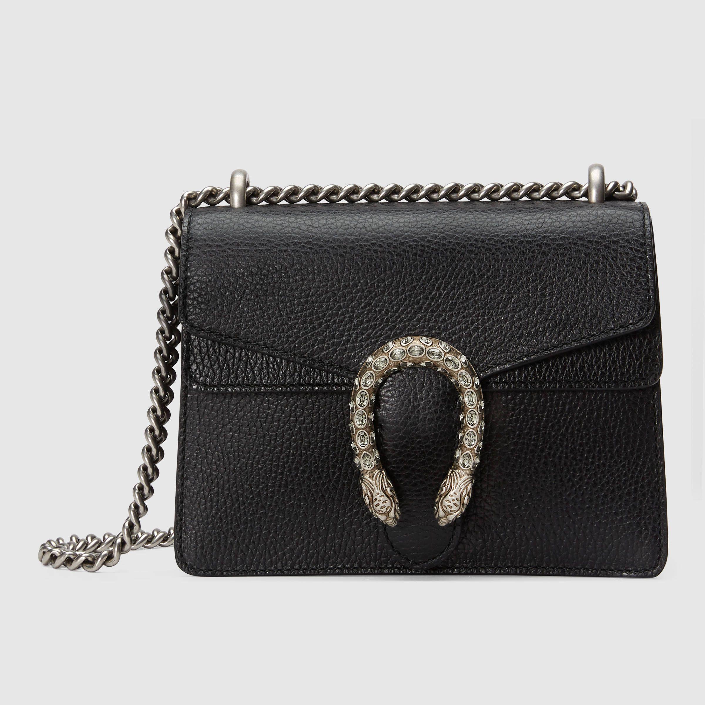 18c9c9743f199b Dionysus leather mini bag Gucci Dionysus Black, Purses And Handbags, Gucci  Handbags, Gucci