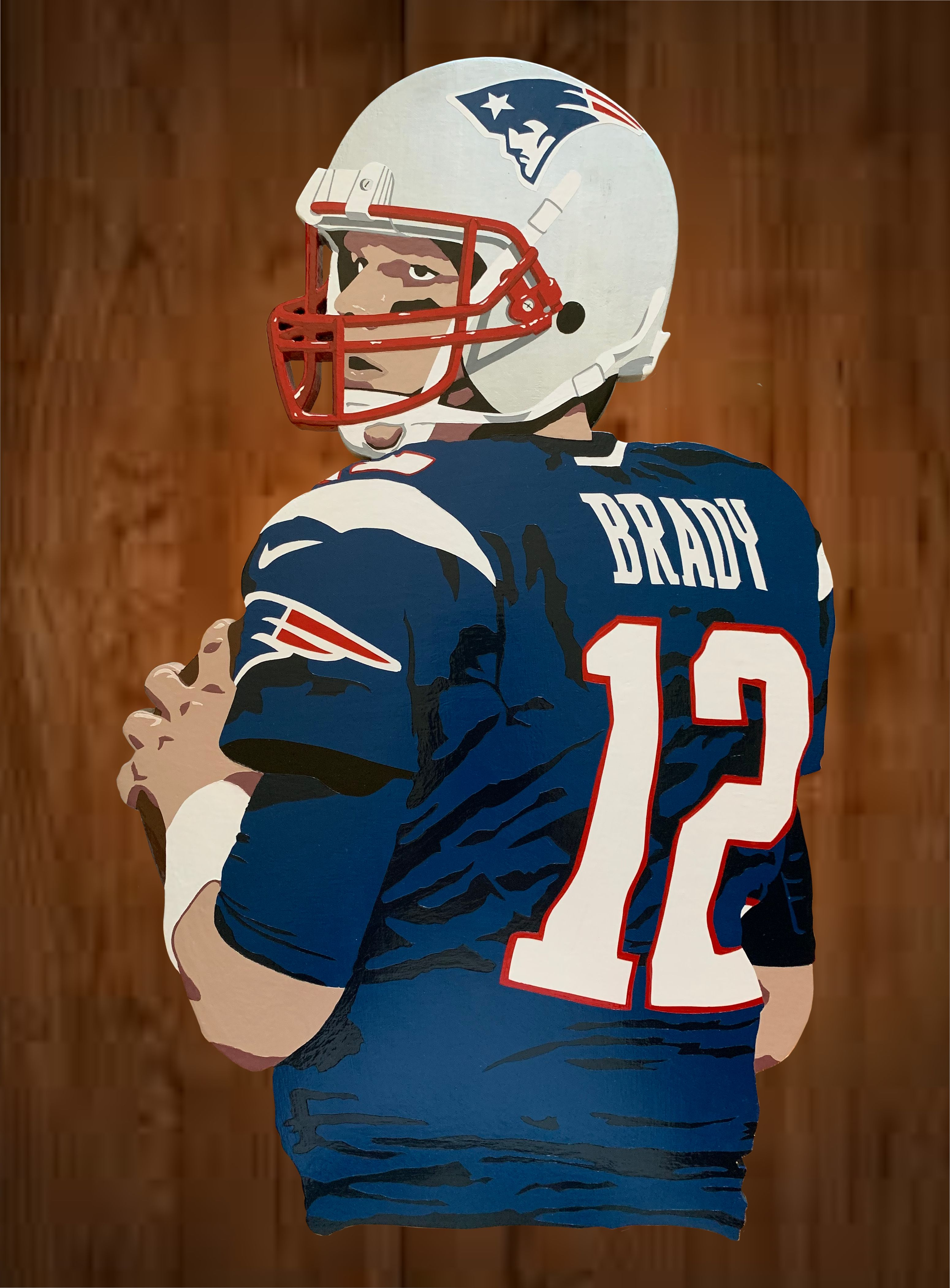 New England Patriots Tom Brady Wall Hanging Art Wood Sign Etsy In 2020 Tom Brady Art New England Patriots Patriots