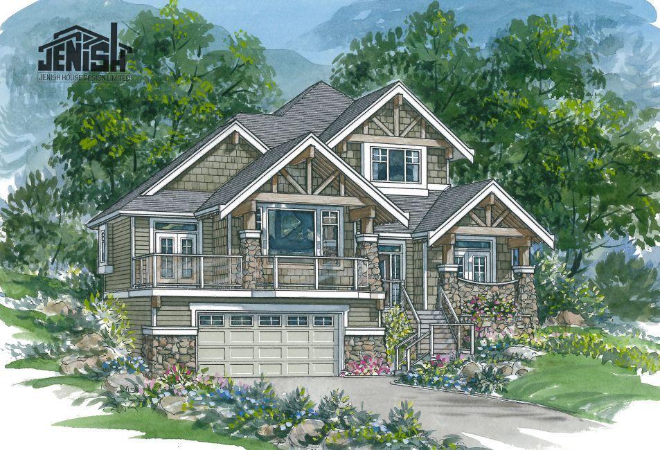7 4 963 Upslope House Exterior Dream House Plans House Design