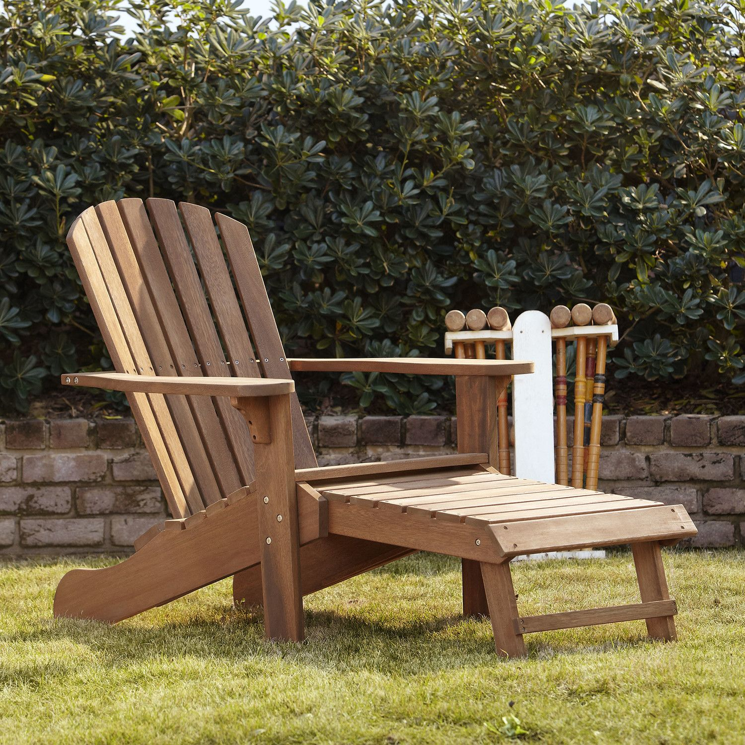 Vista Adirondack Chair With Built In Ottoman Wood Adirondack Chairs Adirondack Chair Wood Patio Chairs Wooden adirondack chairs on sale