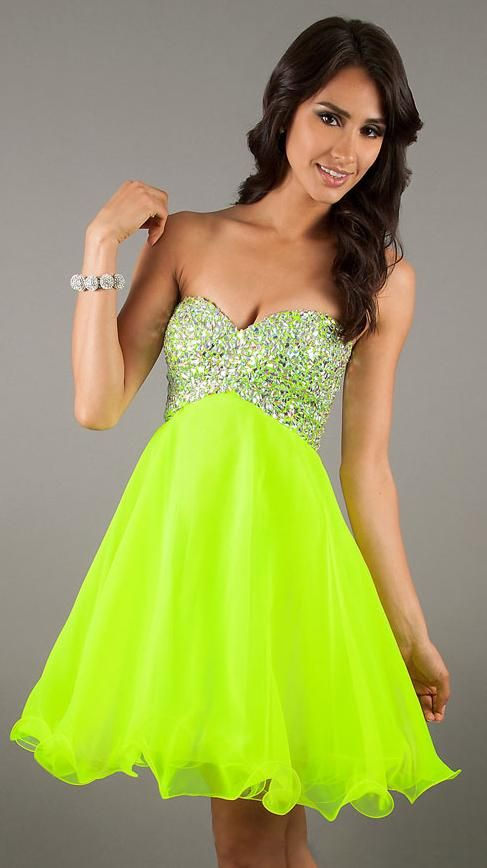 1000  images about Prom on Pinterest  Short prom dresses Neon ...