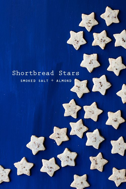 Smoked Salt + Almond Shortbread Stars // Hungry Girl por Vida