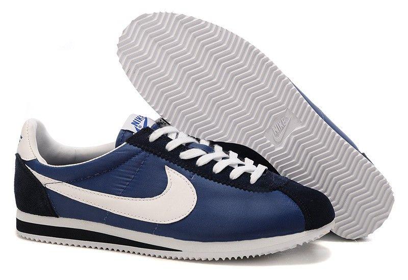sale retailer 9e1da f8e38 Nike Cortez Nylon Vintage - bleu marine Blanc - Homme Chaussures Boutique  en ligne