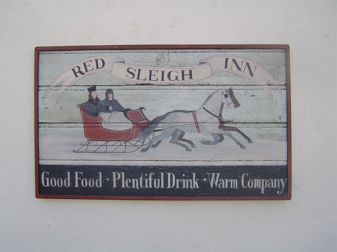Colonial Wooden Signs