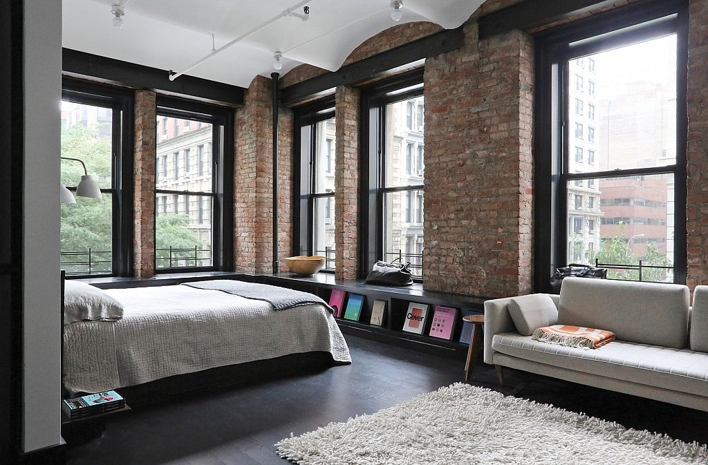 Great Jones Loft In New YorkGreat Jones Loft In New York   Lofts  Apartments and Interiors. Exposed Brick Studio Apartment New York. Home Design Ideas