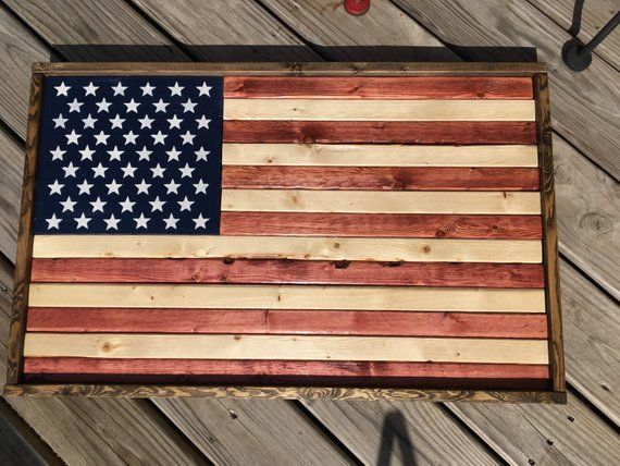 6f930cd9cbac Rustic Wood American Flag