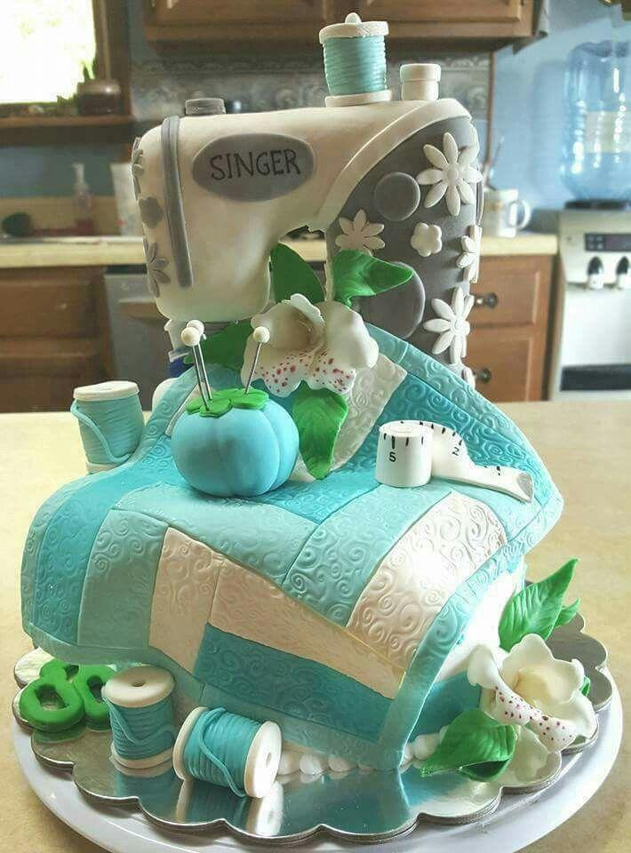 Einzigartige Kuchen, Deko Ideen, Geburtstage, Designer Kuchen, Singer  Nähmaschinen, Kreative Kuchen, Kreatives Essen, Torten Design, Kuchen