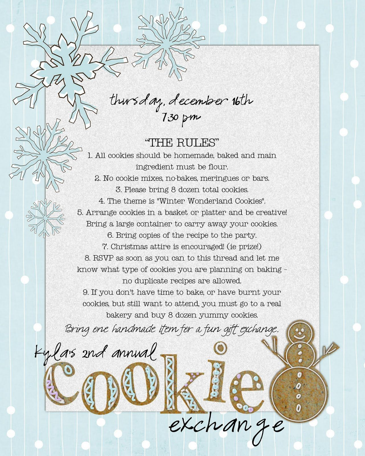 Cookie Exchange Invite | Christmas Cookie Exchange | Pinterest ...