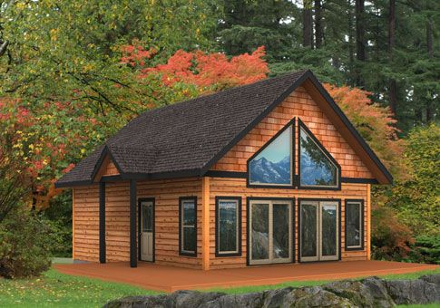 1131 Sq Ft Cabin By Linwood Log Cabin House Plans House Cabin