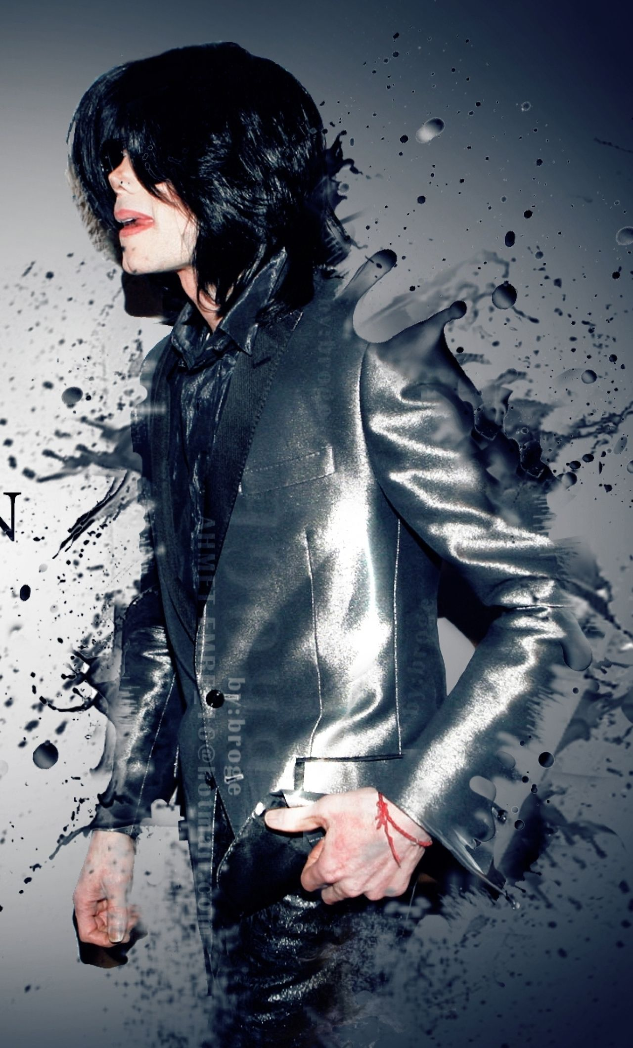 michael jackson glamorous photoshoot hd wallpaper (With