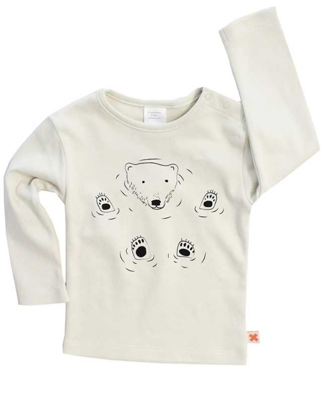 Tiny Cottons wit T-shirt ijsbeer