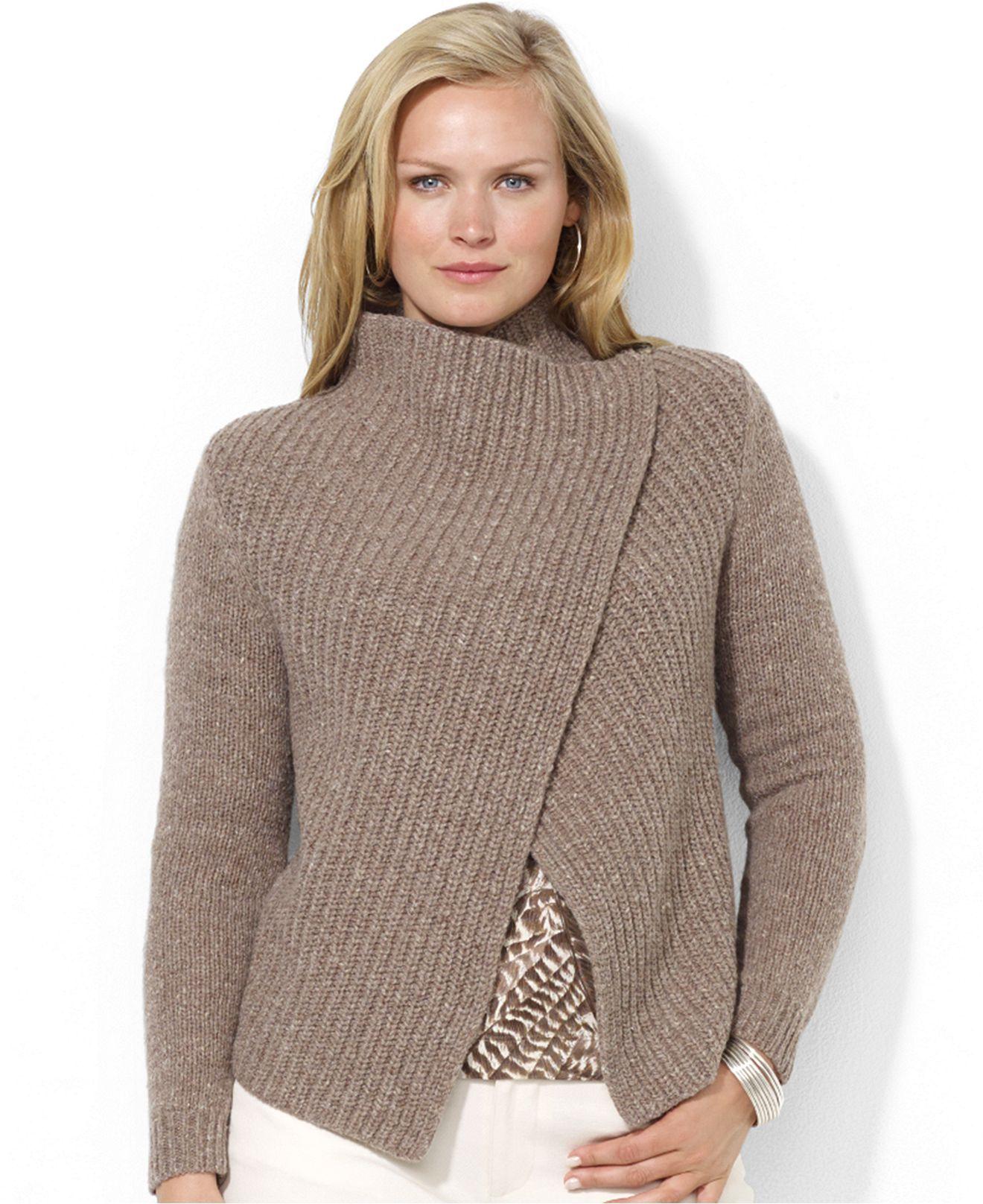 Lauren Ralph Lauren Plus Size Ribbed Open-Front Cardigan - Plus ...