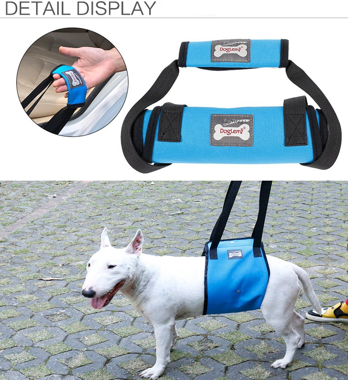 Slifeeling Dog Lift Support Harness With Handle For Older Or