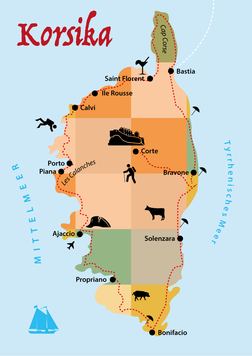 Korsika Reisetipps Route Unterkunft Wandern Strande Regionen Korsika Urlaub Reisetipps Camping Korsika
