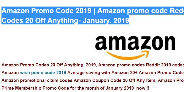 c62410f2e003 20) Amazon Promo Codes 20 Off Anything ( MARCH 2019