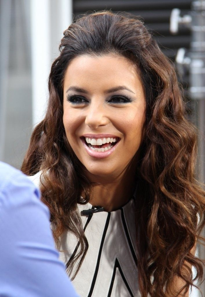 Eva Longoria Hairstyles Eva Longoria Half Up Half Down  Eva Longoria And Beachy Waves