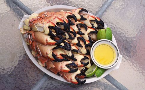 Image result for eating stone crabs