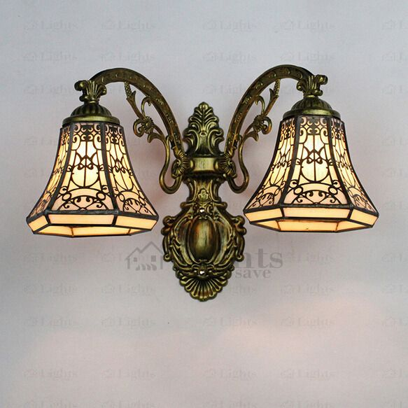 Simple Yet Modern Look Tiffany Wall Sconces Are Made Of Stained Gl Shade And Wrought Iron Fixture Can Use E27 Lamp Holder Which Is Convenient For Many