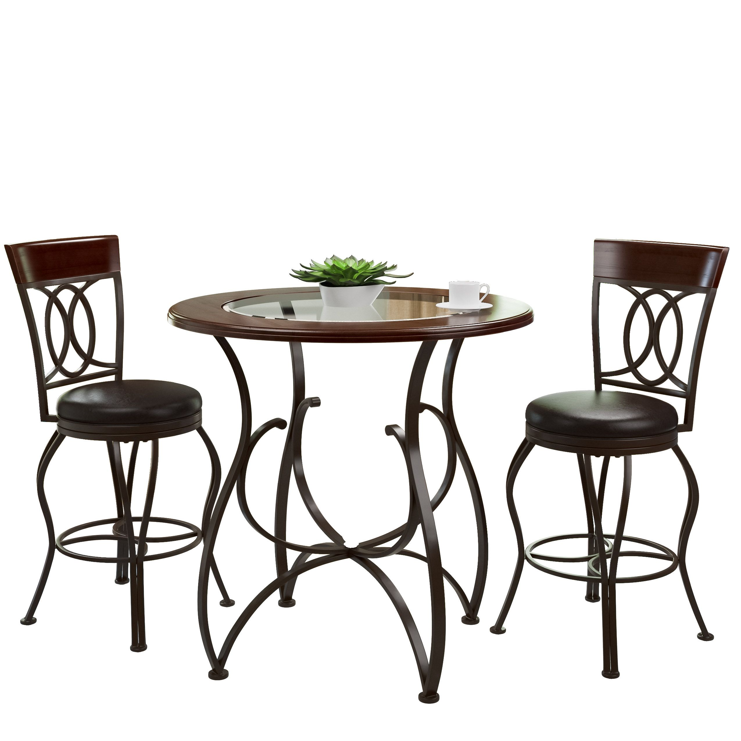 CorLiving Jericho pc Counter Height Matte Brown Barstool and Bistro