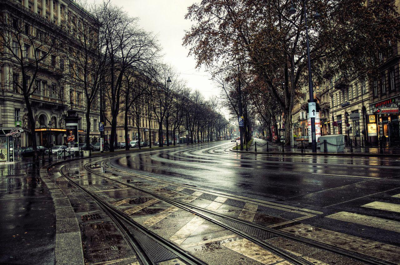 Photography Rain City Place Vienna Winter Wallpaper Rain Wallpapers Dream Vacations Destinations Vienna