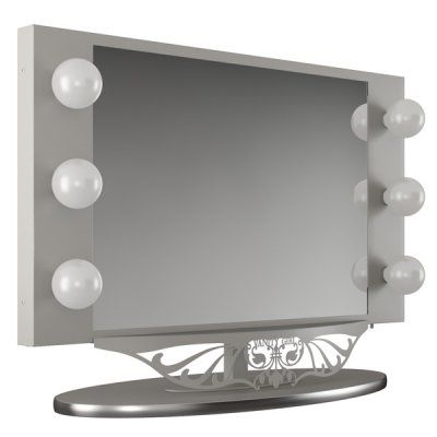 Starlet lighted vanity mirror droughtrelief starlet lighted tabletop vanity mirror home decorations aloadofball Image collections