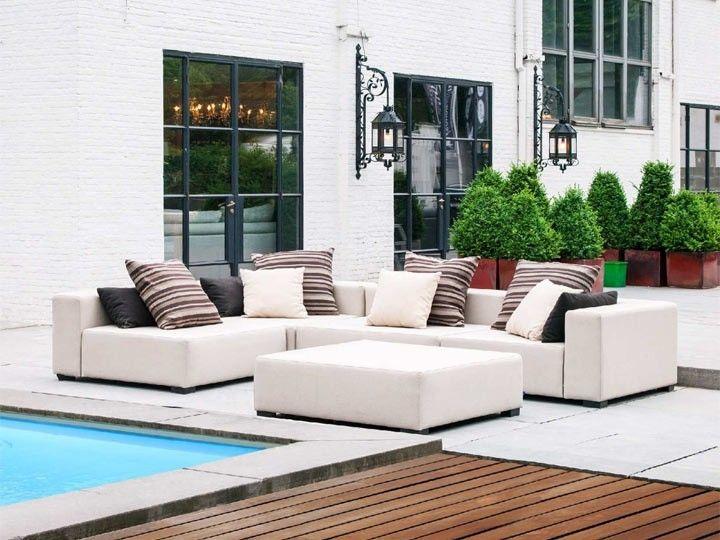KUBIK Gartenmöbel Lounge Gartenset 22-teilig Silvertex