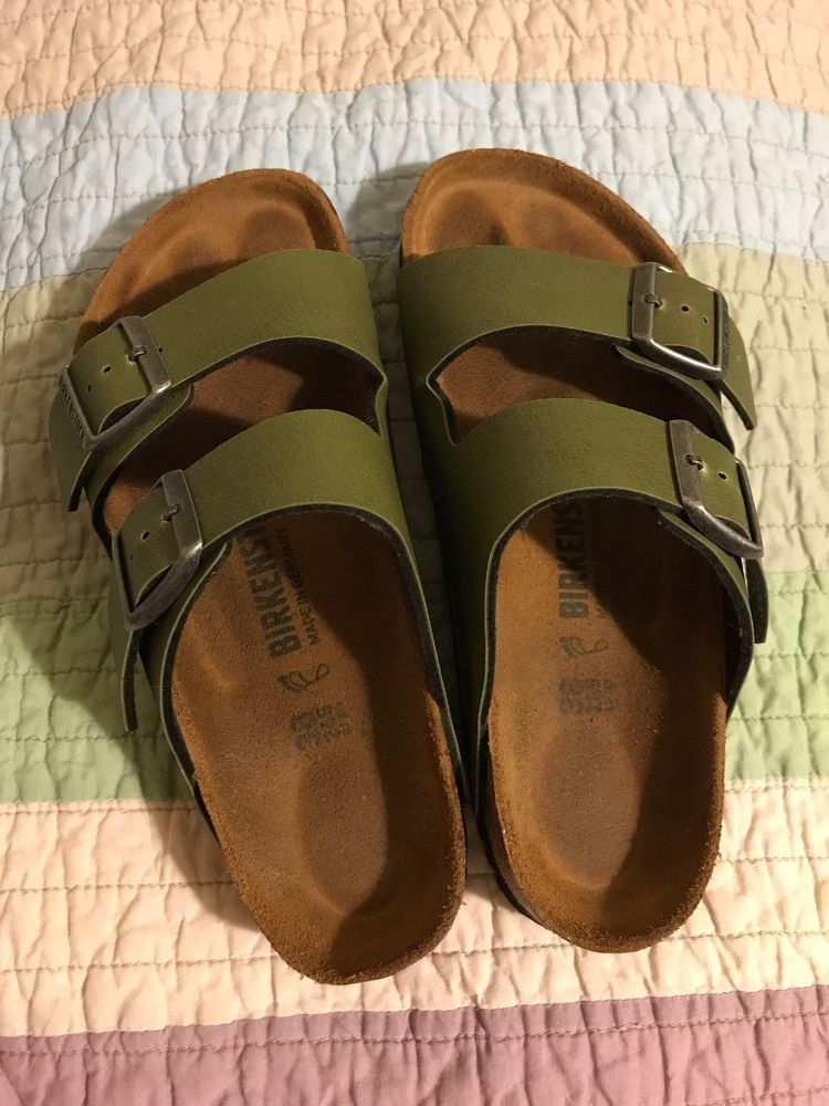 49a54122ff1f birkenstock 38 Army Green  fashion  clothing  shoes  accessories   womensshoes  sandals (ebay link)