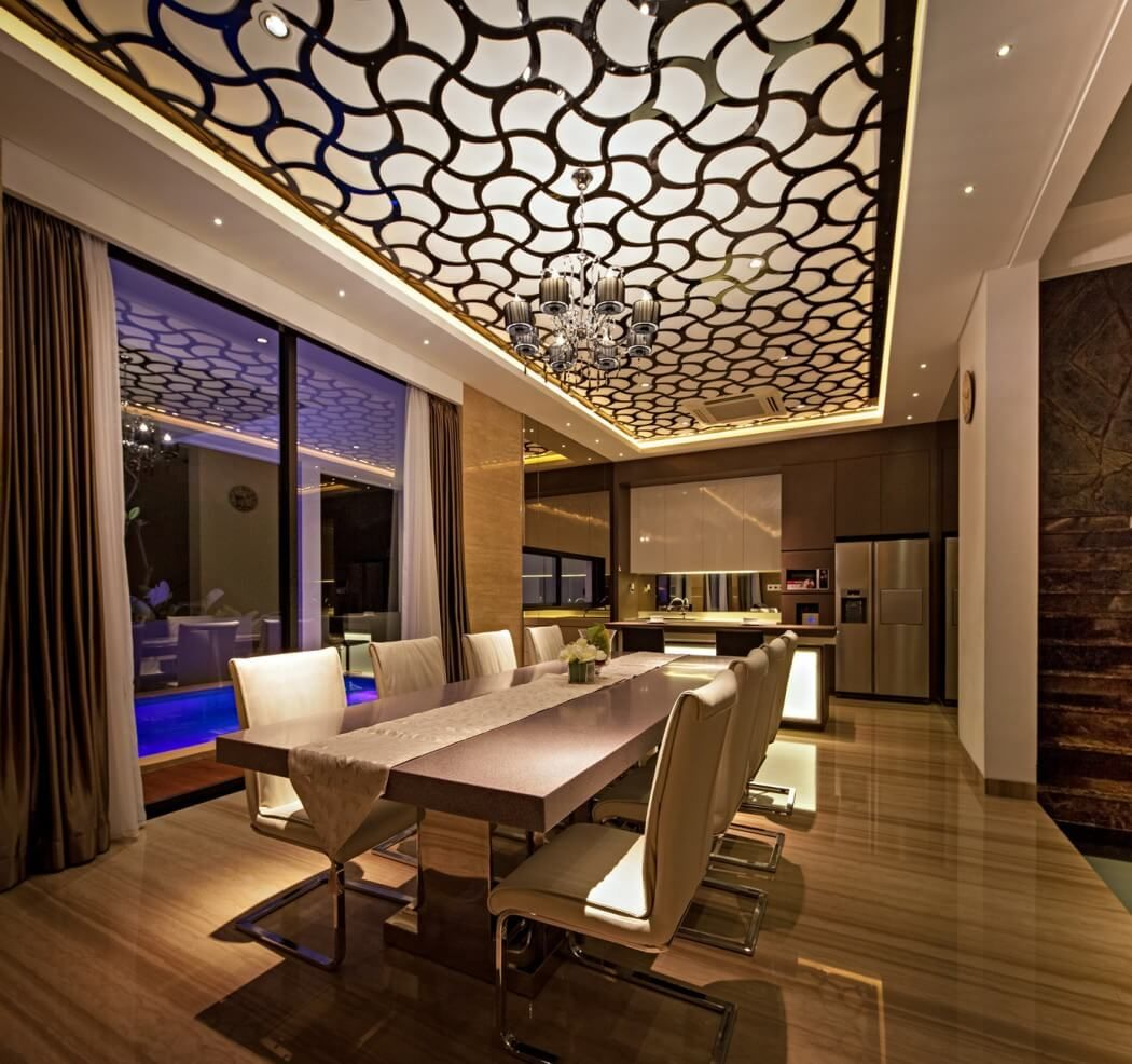 Opulent Home In Jakarta Plays With Shapes Textures Fres