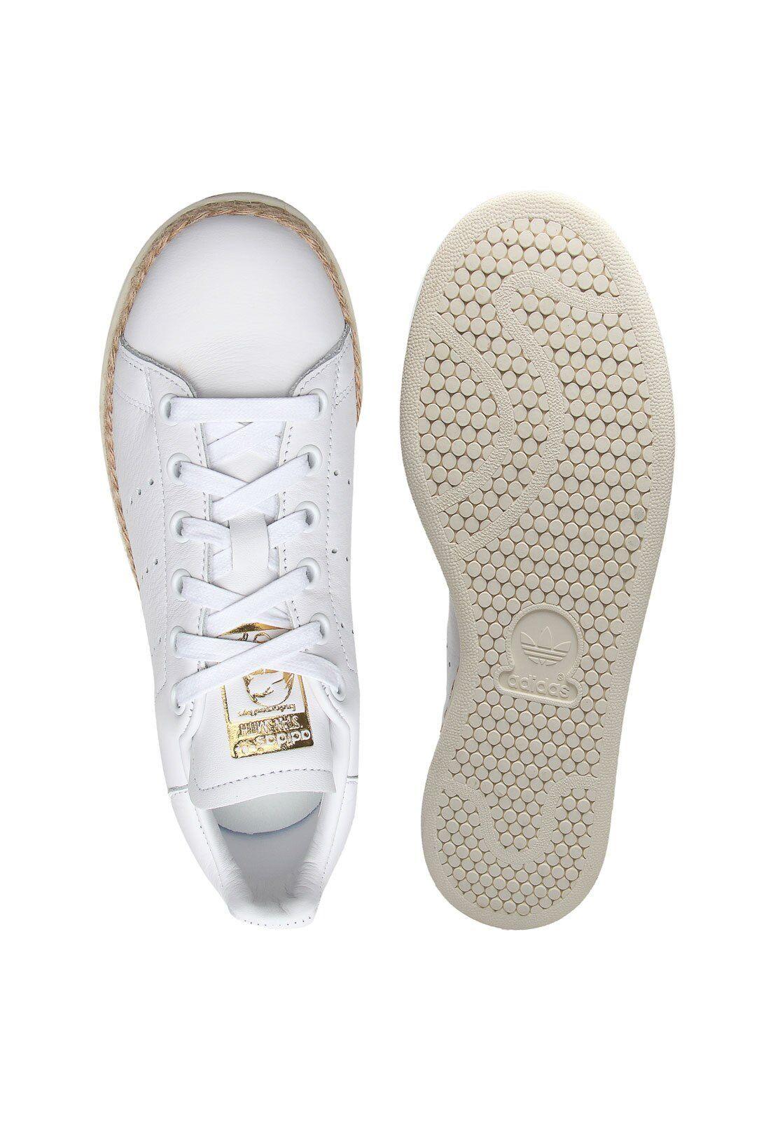 Tênis Couro adidas Originals Stan Smith Bold W Branco