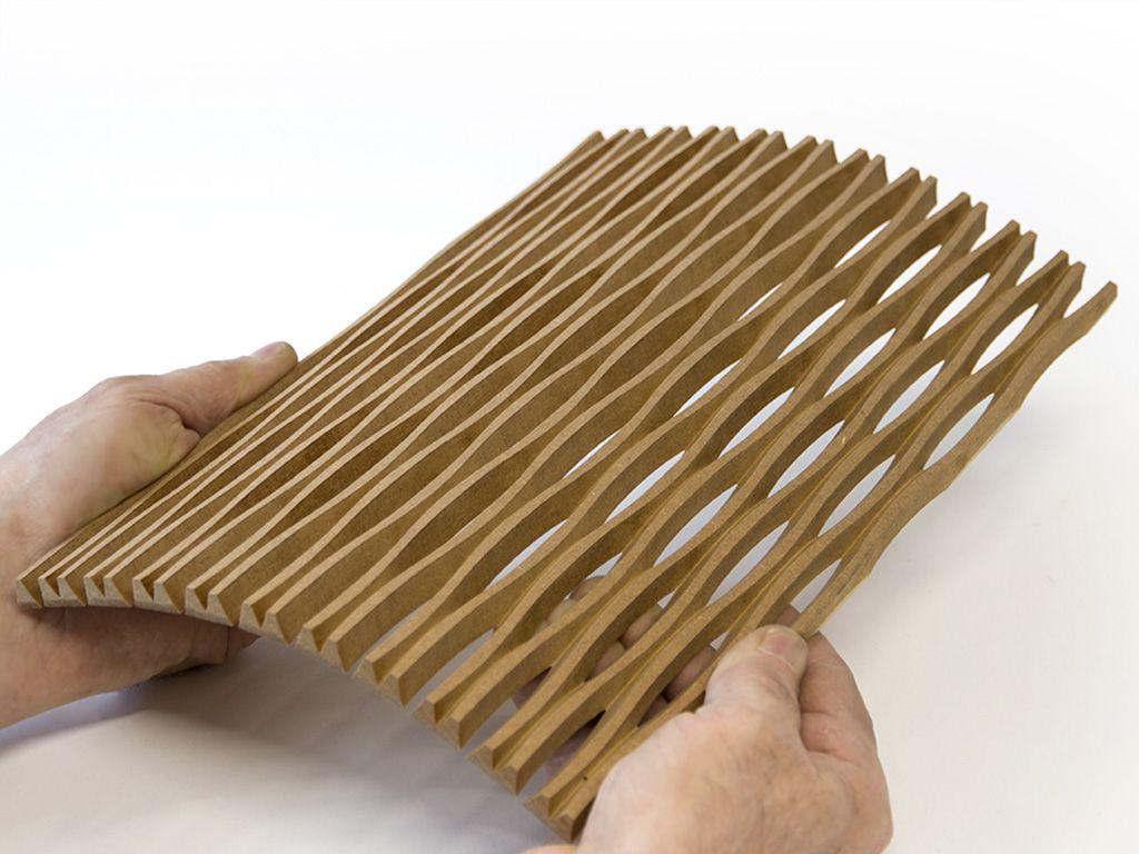 Popular Wandverkleidung Holz Flexibel Schnitt Produkt Einschnitt Cnc m bel Studiendesign Reutlingen Furniture Ipd