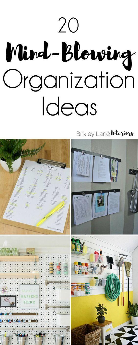 20 Mind-Blowing Organization Ideas for Your Home | Diy organization ...
