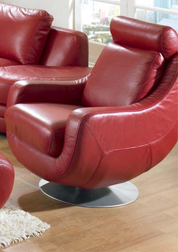 Red Leather Sofa Design Modular Living Room Furniture Enk Dot Com