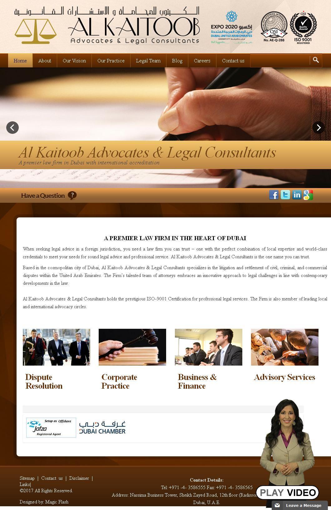 Alkaitoob Advocate Legal Consultant Company Nassima Tower