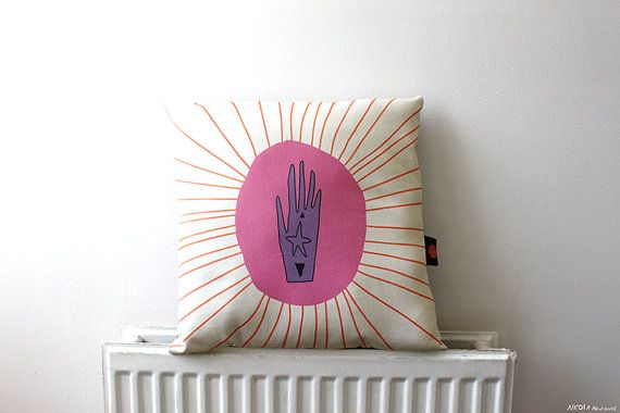 Lucky crystal hand pillow by MsSpanner