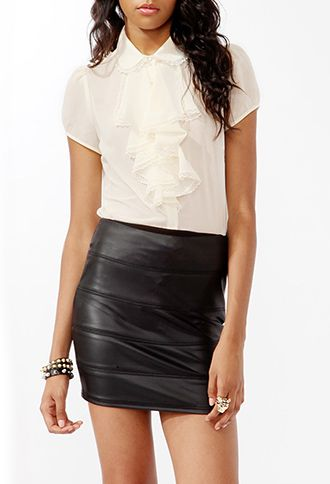 Cascading Ruffle Trimmed Shirt | FOREVER21 - 2000048962