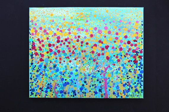 Coral Symphony 16 x 20 Original Abstract by StaceyZimmermanArt, $165.00