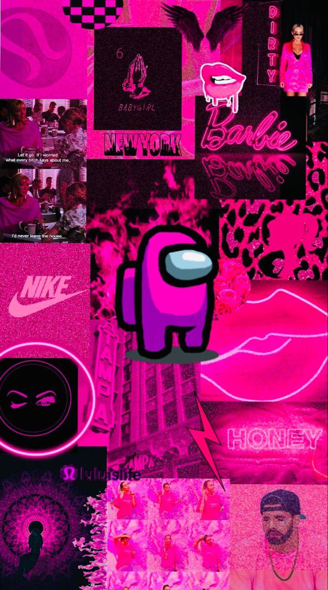 Among Us Wallpaper Pink Crazy Wallpaper Wallpaper Iphone Cute Wallpaper Iphone Neon