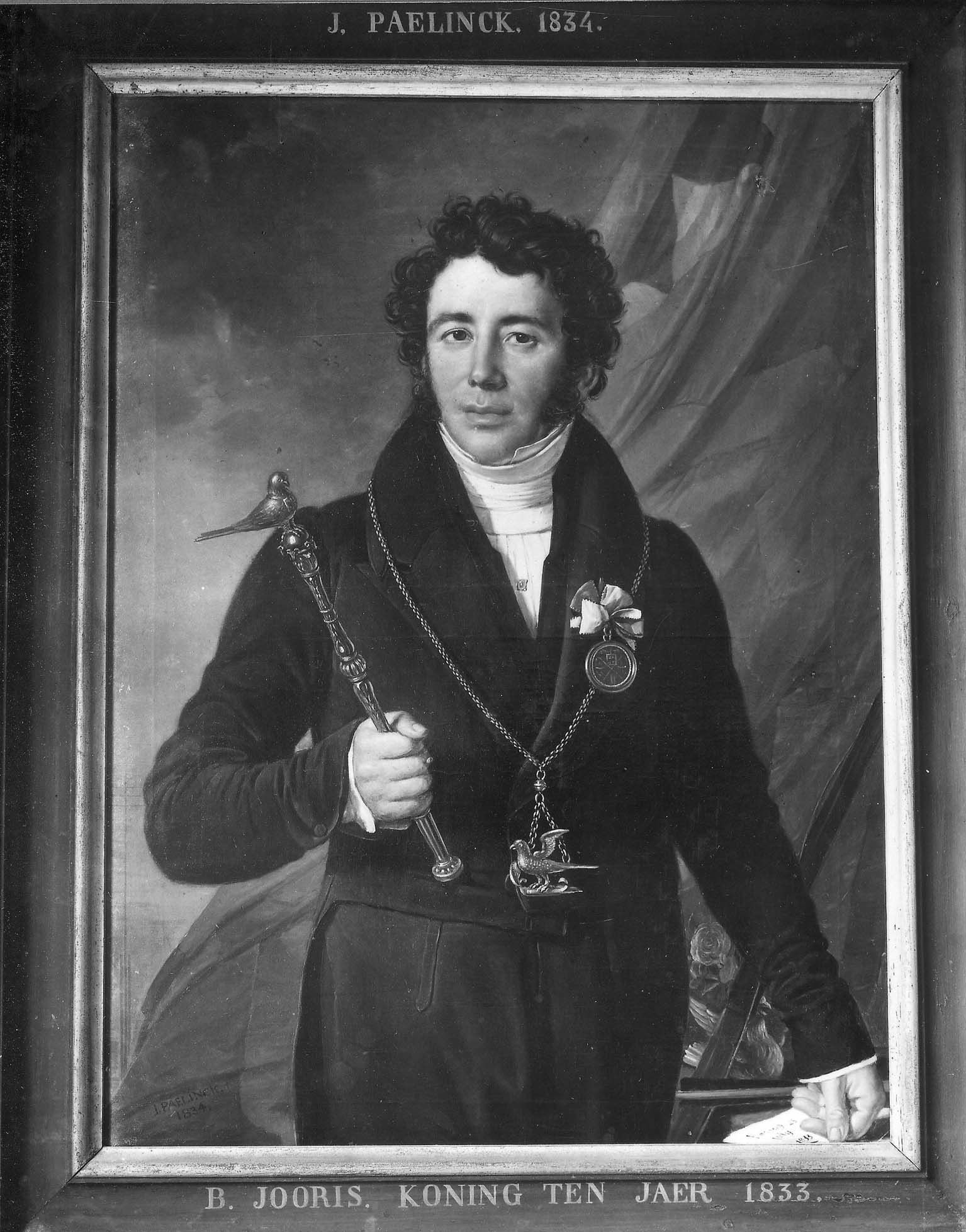 Portret van B. Jooris, koning in 1833 b099350