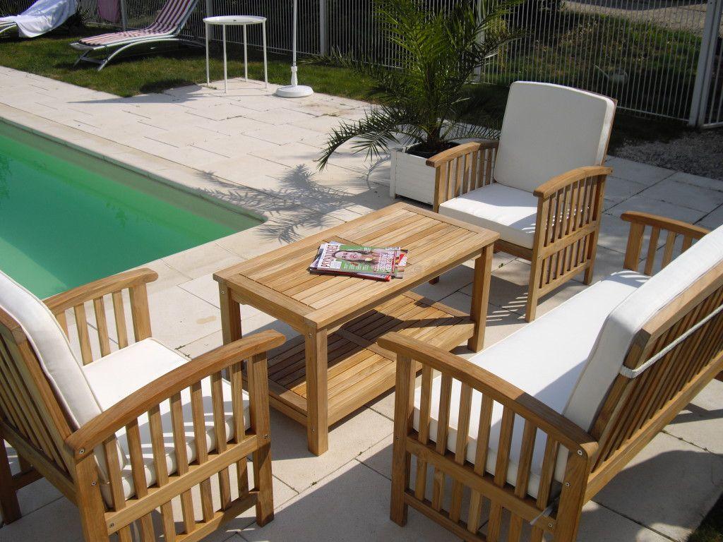 fauteuil bois salon de jardin salon de jardin