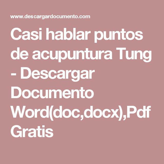 Puntos de acupuntura para bajar de peso pdf to word